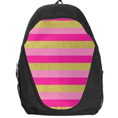 Pink Line Gold Red Horizontal Backpack Bag