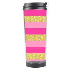 Pink Line Gold Red Horizontal Travel Tumbler