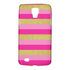 Pink Line Gold Red Horizontal Galaxy S4 Active