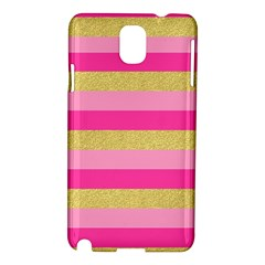 Pink Line Gold Red Horizontal Samsung Galaxy Note 3 N9005 Hardshell Case