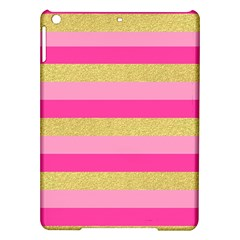 Pink Line Gold Red Horizontal iPad Air Hardshell Cases