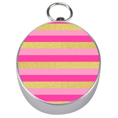 Pink Line Gold Red Horizontal Silver Compasses
