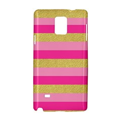Pink Line Gold Red Horizontal Samsung Galaxy Note 4 Hardshell Case