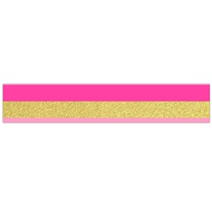 Pink Line Gold Red Horizontal Flano Scarf (Large)