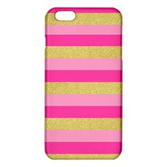 Pink Line Gold Red Horizontal iPhone 6 Plus/6S Plus TPU Case
