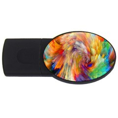 Rainbow Color Splash USB Flash Drive Oval (1 GB)