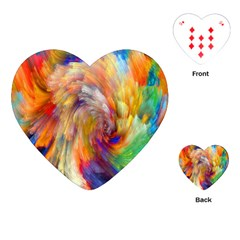 Rainbow Color Splash Playing Cards (Heart)