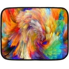 Rainbow Color Splash Double Sided Fleece Blanket (Mini)