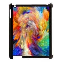 Rainbow Color Splash Apple Ipad 3/4 Case (black)
