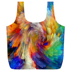 Rainbow Color Splash Full Print Recycle Bags (L)