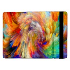 Rainbow Color Splash Samsung Galaxy Tab Pro 12 2  Flip Case
