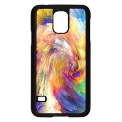 Rainbow Color Splash Samsung Galaxy S5 Case (Black)