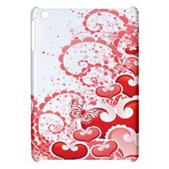 Love Heart Butterfly Pink Leaf Flower Apple iPad Mini Hardshell Case
