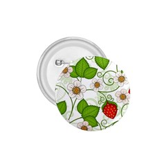 Strawberry Fruit Leaf Flower Floral Star Green Red White 1.75  Buttons