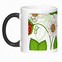 Strawberry Fruit Leaf Flower Floral Star Green Red White Morph Mugs
