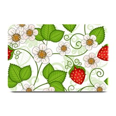 Strawberry Fruit Leaf Flower Floral Star Green Red White Plate Mats