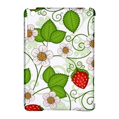 Strawberry Fruit Leaf Flower Floral Star Green Red White Apple iPad Mini Hardshell Case (Compatible with Smart Cover)