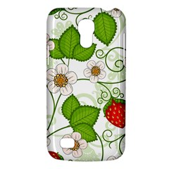 Strawberry Fruit Leaf Flower Floral Star Green Red White Galaxy S4 Mini