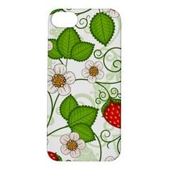 Strawberry Fruit Leaf Flower Floral Star Green Red White Apple iPhone 5S/ SE Hardshell Case