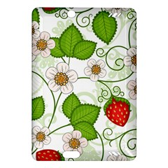 Strawberry Fruit Leaf Flower Floral Star Green Red White Amazon Kindle Fire HD (2013) Hardshell Case