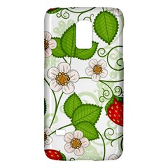 Strawberry Fruit Leaf Flower Floral Star Green Red White Galaxy S5 Mini