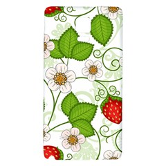 Strawberry Fruit Leaf Flower Floral Star Green Red White Galaxy Note 4 Back Case