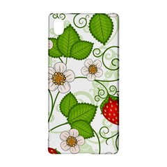 Strawberry Fruit Leaf Flower Floral Star Green Red White Sony Xperia Z3+