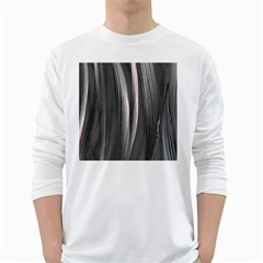 Abstraction White Long Sleeve T-Shirts