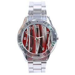 Abstraction Stainless Steel Analogue Watch