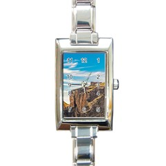 Rocky Mountains Patagonia Landscape   Santa Cruz   Argentina Rectangle Italian Charm Watch