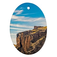 Rocky Mountains Patagonia Landscape   Santa Cruz   Argentina Ornament (Oval)