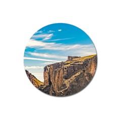 Rocky Mountains Patagonia Landscape   Santa Cruz   Argentina Magnet 3  (Round)
