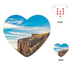 Rocky Mountains Patagonia Landscape   Santa Cruz   Argentina Playing Cards (Heart)