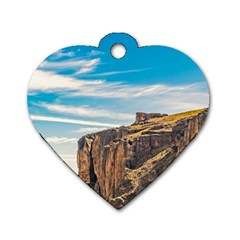Rocky Mountains Patagonia Landscape   Santa Cruz   Argentina Dog Tag Heart (Two Sides)