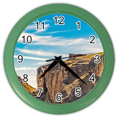 Rocky Mountains Patagonia Landscape   Santa Cruz   Argentina Color Wall Clocks