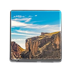 Rocky Mountains Patagonia Landscape   Santa Cruz   Argentina Memory Card Reader (Square)