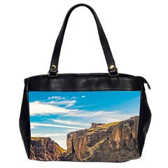 Rocky Mountains Patagonia Landscape   Santa Cruz   Argentina Office Handbags (2 Sides)
