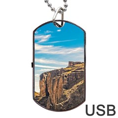 Rocky Mountains Patagonia Landscape   Santa Cruz   Argentina Dog Tag USB Flash (Two Sides)