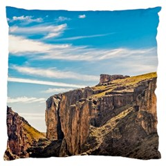 Rocky Mountains Patagonia Landscape   Santa Cruz   Argentina Large Cushion Case (Two Sides)
