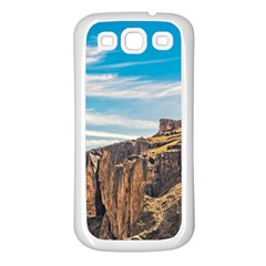 Rocky Mountains Patagonia Landscape   Santa Cruz   Argentina Samsung Galaxy S3 Back Case (White)