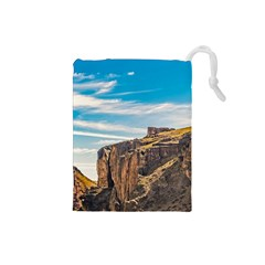 Rocky Mountains Patagonia Landscape   Santa Cruz   Argentina Drawstring Pouches (Small)