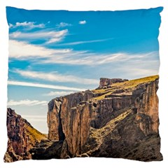 Rocky Mountains Patagonia Landscape   Santa Cruz   Argentina Large Flano Cushion Case (One Side)