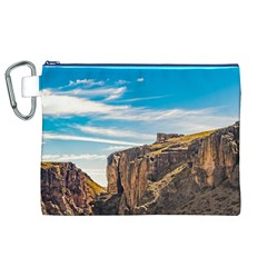 Rocky Mountains Patagonia Landscape   Santa Cruz   Argentina Canvas Cosmetic Bag (XL)