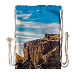 Rocky Mountains Patagonia Landscape   Santa Cruz   Argentina Drawstring Bag (Large)