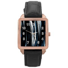 Abstraction Rose Gold Leather Watch