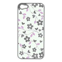 Floral pattern Apple iPhone 5 Case (Silver)