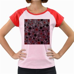Floral pattern Women s Cap Sleeve T-Shirt