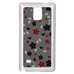 Floral pattern Samsung Galaxy Note 4 Case (White)