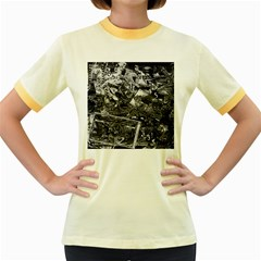 Vintage newspaper  Women s Fitted Ringer T-Shirts
