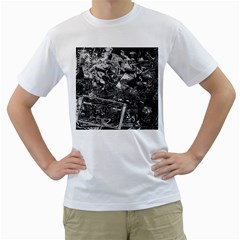 Vintage newspaper  Men s T-Shirt (White) (Two Sided)